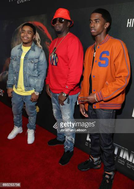 Justin Combs Sean 'Diddy' Combs and Christian Combs attend the Premiere Of Riveting Entertainment's 'Chris Brown Welcome To My Life' at LA LIVE on...