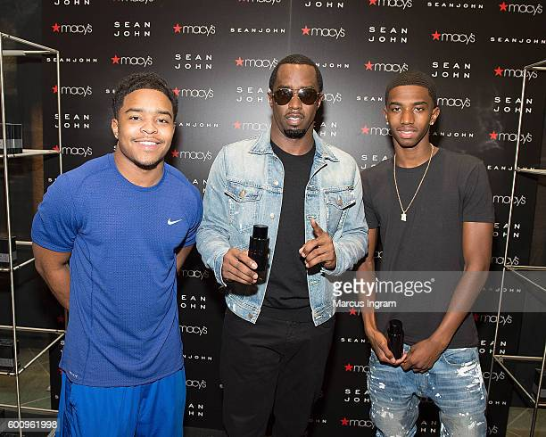 Justin Combs Sean 'Diddy' Combs and Christian 'King' Combs arrive at Macy's to premier Sean John new fragrance launch at Macy's Lenox Square on...
