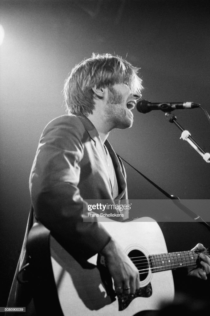 Justin Currie, vocal-guitar, performs with Del Amitri at the Melkweg on 21st March 1995 in Amsterdam, Netherlands.