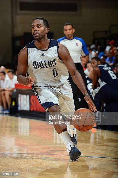 Justin Dentmon of the Dallas Mavericks drives against the Charlotte Bobcats during NBA Summer League on July 14 2013 at the Cox Pavilion in Las Vegas...