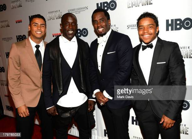 Justin Dior Combs Michael K Williams Sean 'Diddy' Combs and Christian Casey Combs attend the HBO 'Boardwalk Empire' season premiere hosted by Sean...