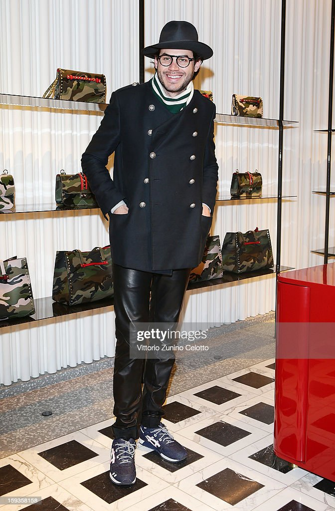 Justin Doss attends Valentino Cocktail Party as part of Milan Fashion Week Menswear Autumn/Winter 2013 on January 12, 2013 in Milan, Italy.