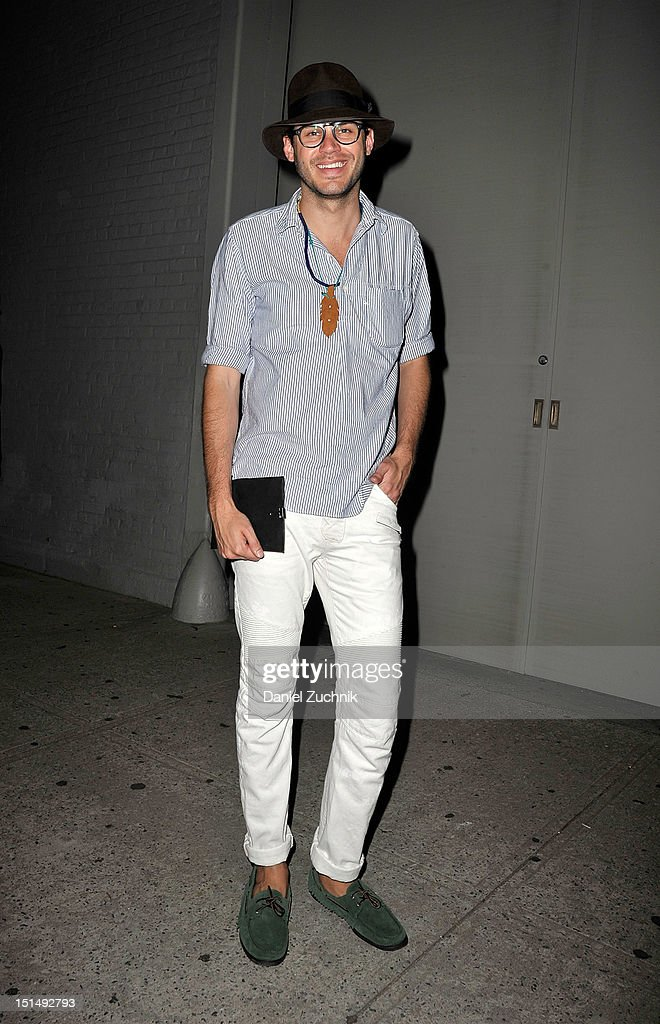 Justin Doss seen outside the Billy Reid show on September 7, 2012 in New York City.