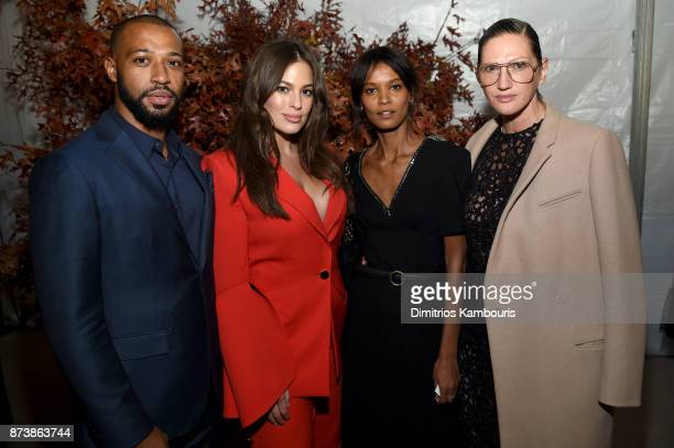 Justin Ervin Ashley Graham Liya Kebede and Jenna Lyons attend Glamour's 2017 Women of The Year Awards at Kings Theatre on November 13 2017 in...