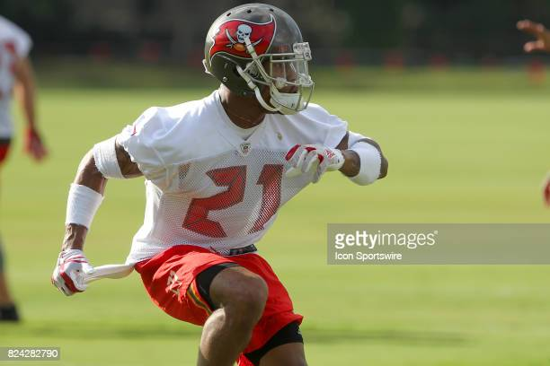 Justin Evans goes thru drills during the Tampa Bay Buccaneers Training Camp on July 29 2017 at One Buccaneer Place in Tampa Florida