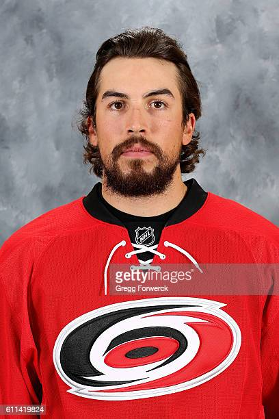 Justin Faulk of the Carolina Hurricanes poses for his official headshot for the 20162017 season on September 22 2016 at Carolina Family Practice and...
