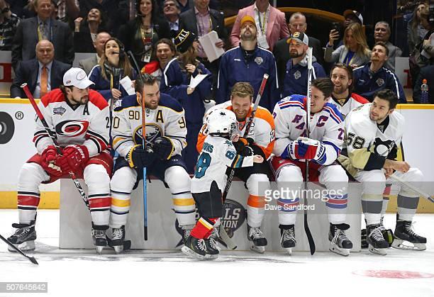 Justin Faulk of the Carolina Hurricanes Ryan O'Reilly of the Buffalo Sabres Claude Giroux of the Philadelphia Flyers Ryan McDonagh of the New York...