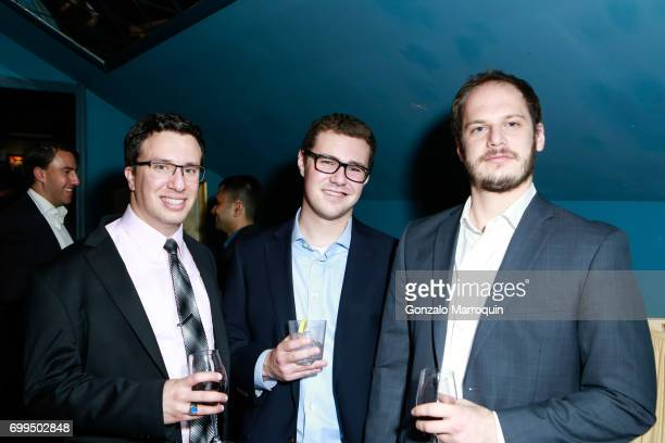 Justin Fleischacker Sam Halter and Axel Schamis attend the Medshare's 6th Annual YP Global Health Benefit on June 21 2017 in New York City