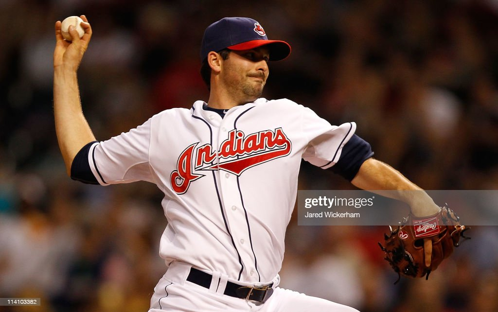 <a gi-track='captionPersonalityLinkClicked' href=/galleries/search?phrase=Justin+Germano&family=editorial&specificpeople=803395 ng-click='$event.stopPropagation()'>Justin Germano</a> #39 of the Cleveland Indians pitches against the Tampa Bay Rays during the game on May 11, 2011 at Progressive Field in Cleveland, Ohio.