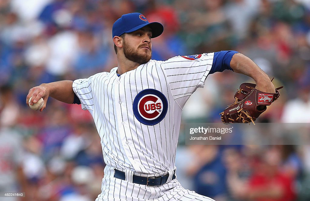 <a gi-track='captionPersonalityLinkClicked' href=/galleries/search?phrase=Justin+Grimm&family=editorial&specificpeople=9480126 ng-click='$event.stopPropagation()'>Justin Grimm</a> #52 of the Chicago Cubs pitches against the Washington Nationals at Wrigley Field on June 27, 2014 in Chicago, Illinois. The Cubs defeated the Nationals 7-2.