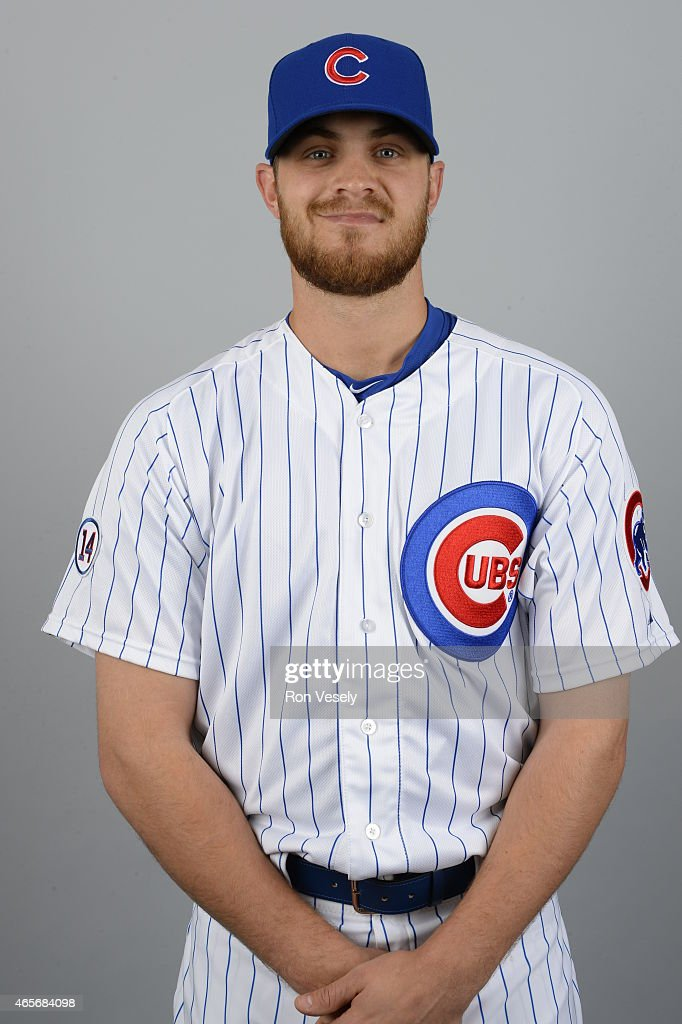 Justin Grimm #52 of the Chicago Cubs poses during Photo Day on Monday, March 2, 2015 at Sloan Park in Mesa, Arizona.