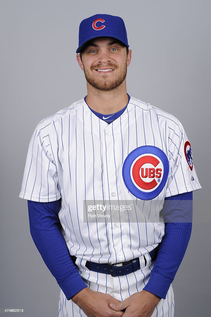 <a gi-track='captionPersonalityLinkClicked' href=/galleries/search?phrase=Justin+Grimm&family=editorial&specificpeople=9480126 ng-click='$event.stopPropagation()'>Justin Grimm</a> #52 of the Chicago Cubs poses during Photo Day on Monday, February 24, 2014 at Cubs Park in Mesa, Arizona.