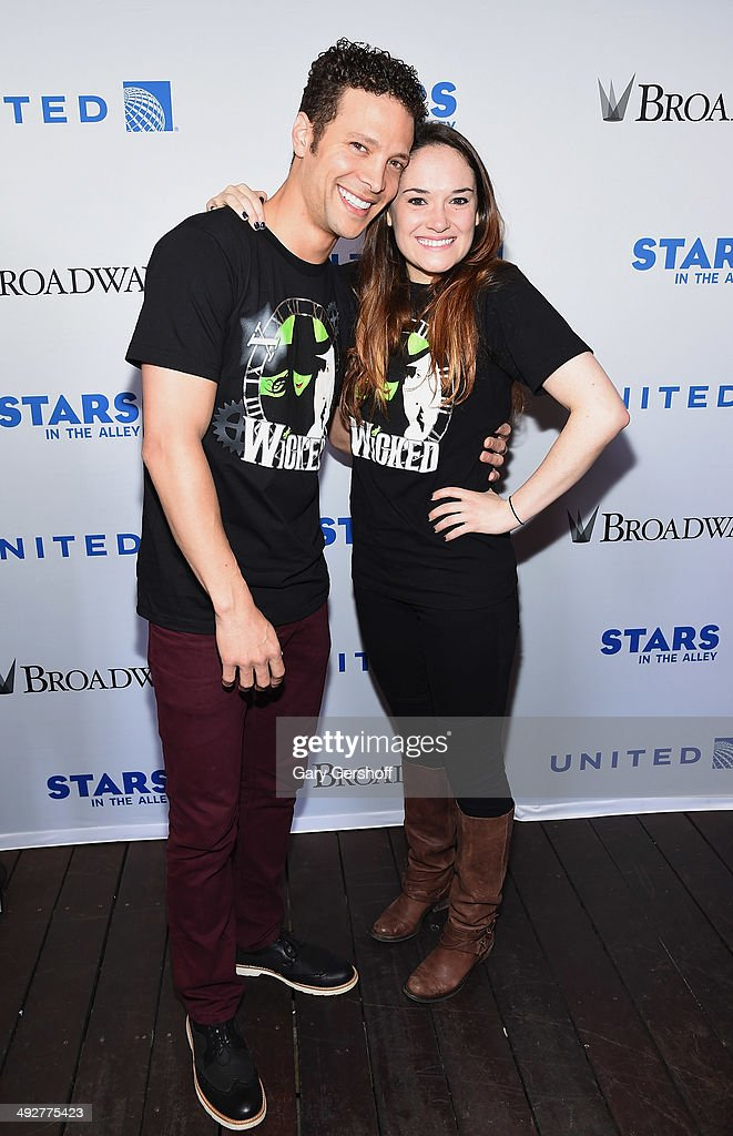 Justin Guarini and Christine Dwyer attend 'Stars In The Alley' at Shubert Alley on May 21 2014 in New York City
