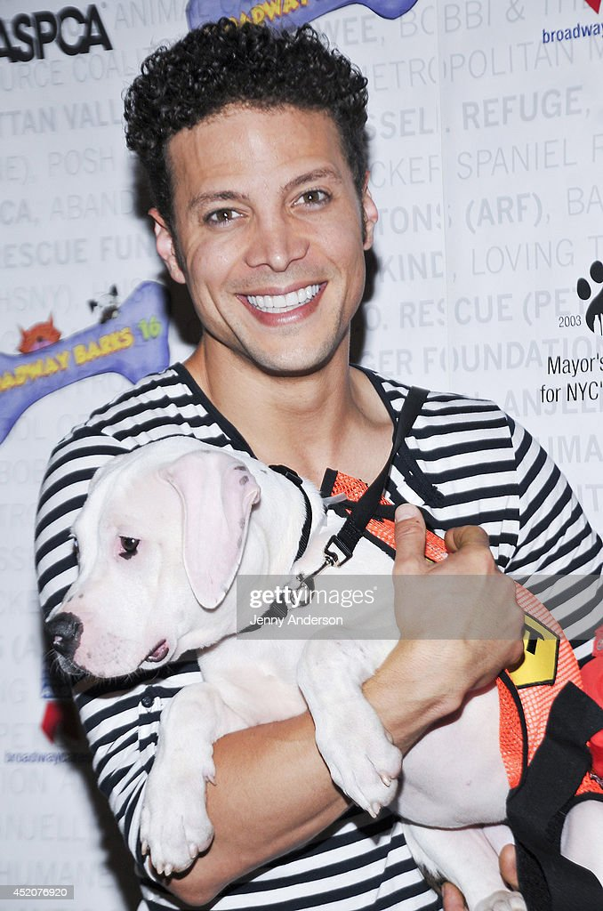 Justin Guarini attends Broadway Barks 16 at Shubert Alley on July 12, 2014 in New York City.