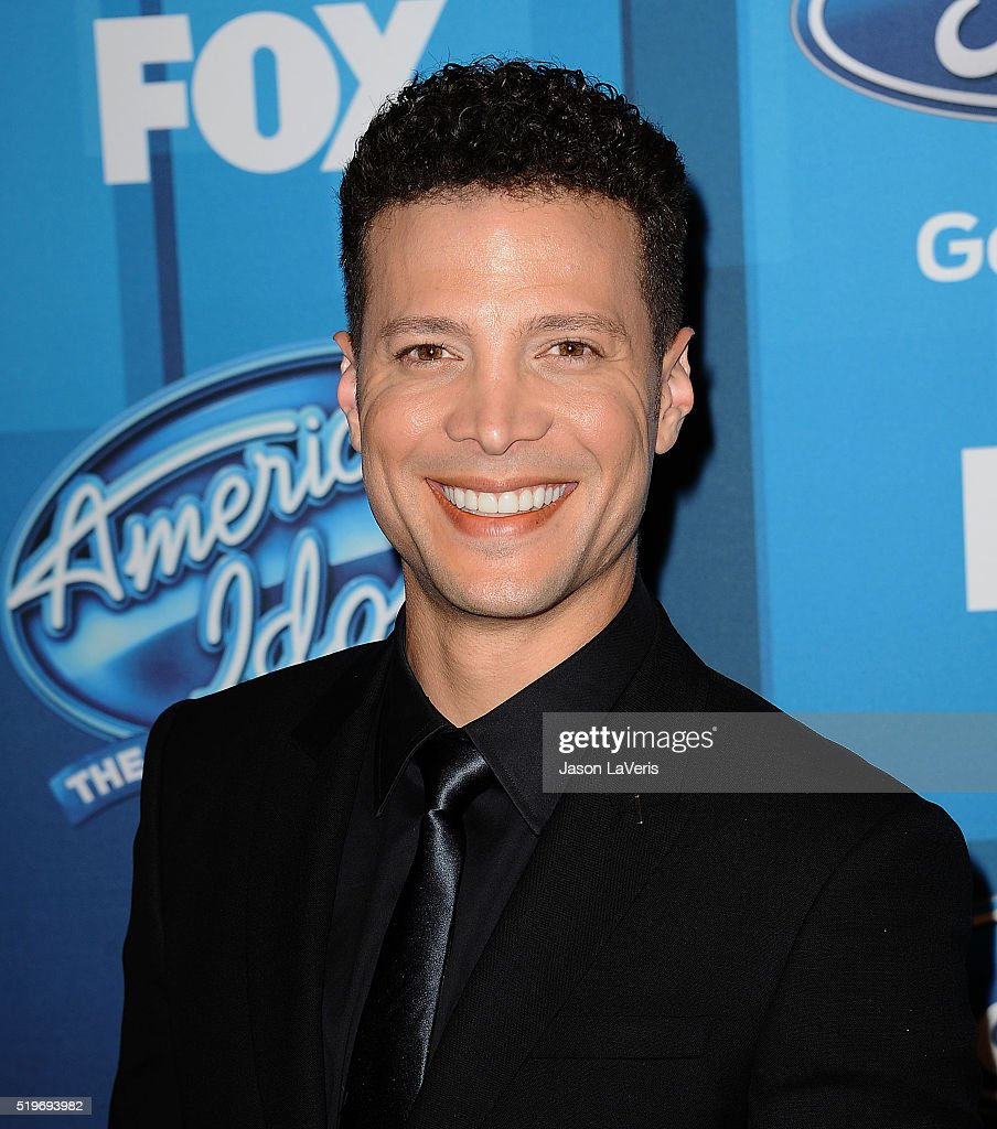 Justin Guarini attends FOX's 'American Idol' finale for the farewell season at Dolby Theatre on April 7 2016 in Hollywood California