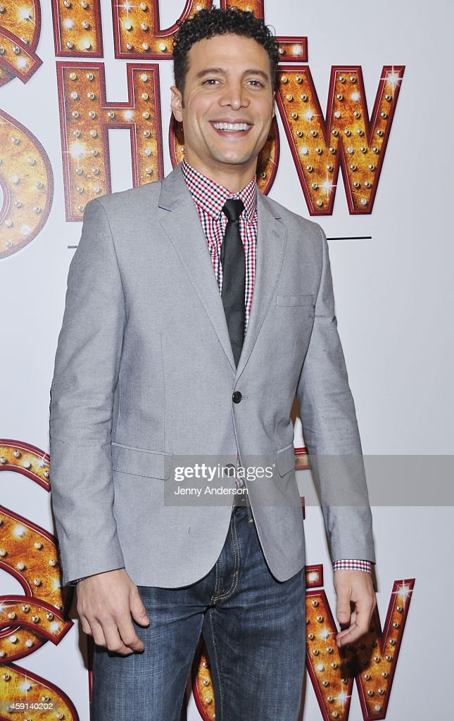 Justin Guarini attends opening night of 'Side Show' on Broadway at the St James Theatre on November 17 2014 in New York City