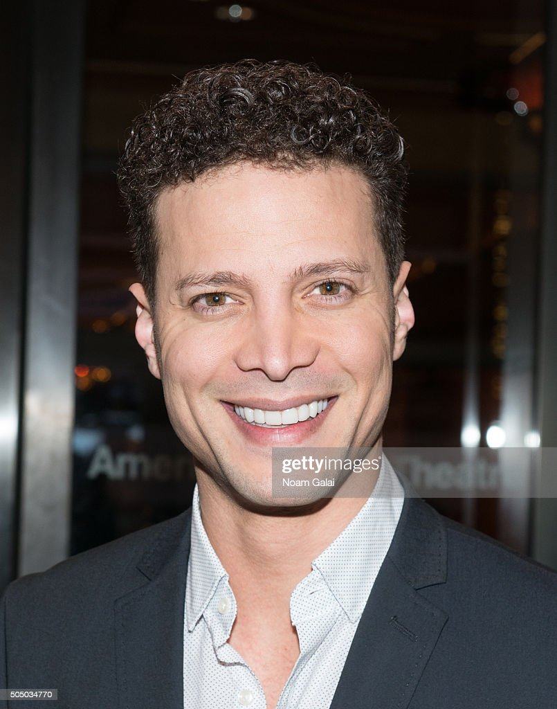 Justin Guarini attends the 'Noises Off' Broadway opening night at American Airlines Theatre on January 14 2016 in New York City