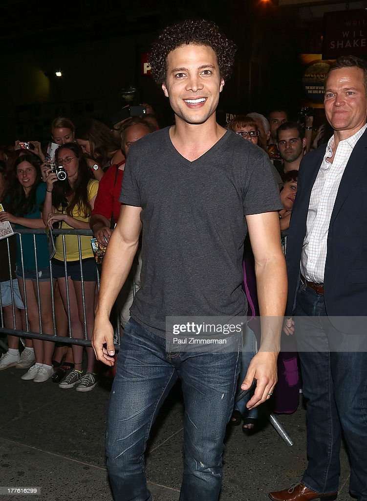 Justin Guarini attends the 'Romeo And Juliet' On Broadway First Performance at the Richard Rodgers Theatre on August 24, 2013 in New York City.