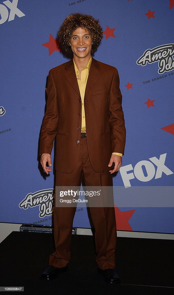 Justin Guarini during 'American Idol' Season 1 Finale Performance Show Press Room at Kodak Theatre in Hollywood California United States