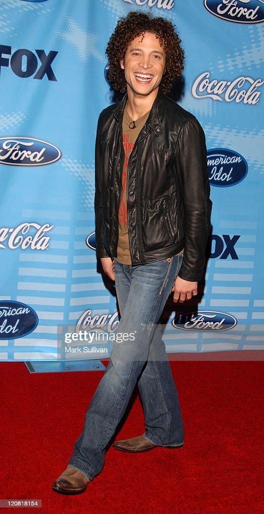 Justin Guarini during 'American Idol' Top 12 Finalists Party Red Carpet at Astra West/Pacific Design Center in West Hollywood California United States