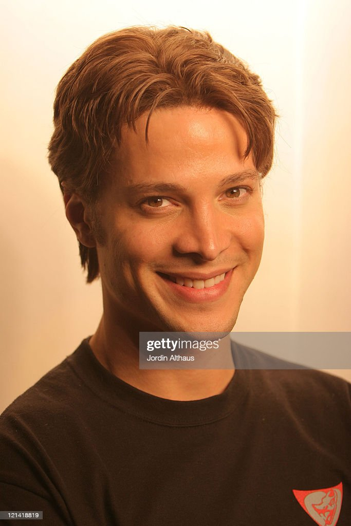 Justin Guarini during On Location for 'Fast Girl' December 16 2006 at Way Station Coffee Shop in Newhall California United States