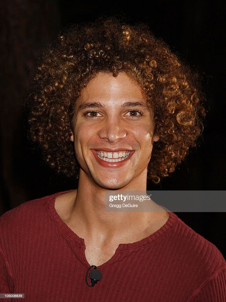 Justin Guarini of 'American Idol' during 'Swimfan' Premiere at Sunset Canyon Recreation Center in Westwood California United States