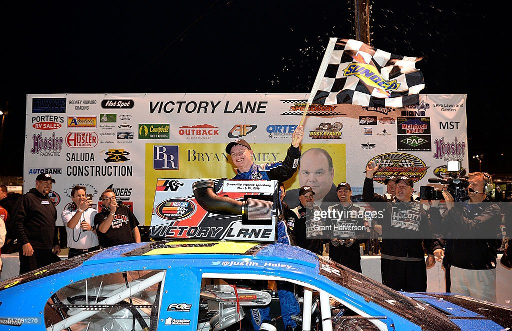 driver of the 5 braun auto chevrolet celebrates in victory lane. Cars Review. Best American Auto & Cars Review