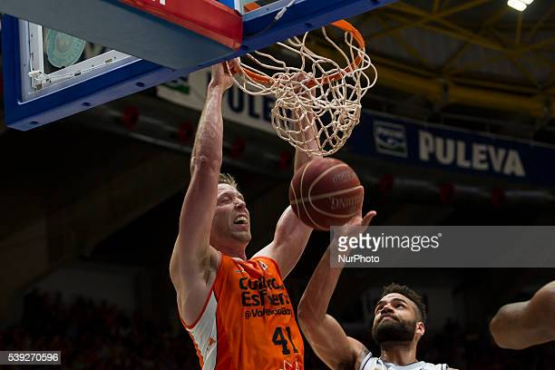 41 Justin Hamilton of Valencia Basket during Endesa league basketball in fourth semifinals match between Valencia Basket and Real Madrid Basket...
