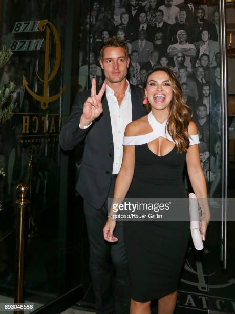 Justin Hartley and Chrishell Stause are seen on June 05 2017 in Los Angeles California