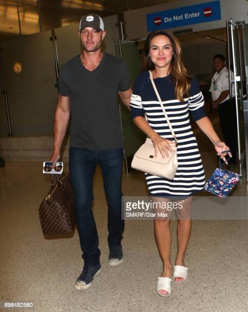 Justin Hartley and Chrishell Stause are seen on June 18 2017 in Los Angeles California