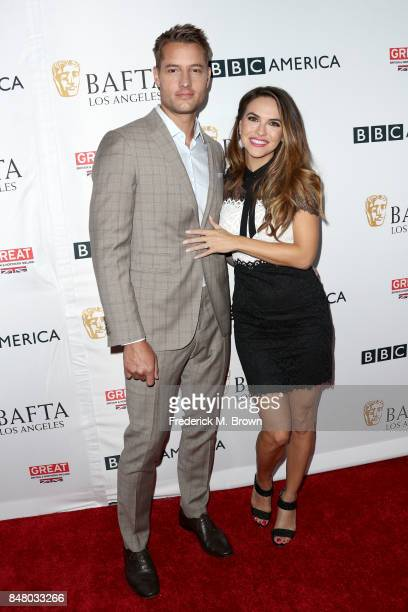 Justin Hartley and Chrishell Stause attend the BBC America BAFTA Los Angeles TV Tea Party 2017 at The Beverly Hilton Hotel on September 16 2017 in...