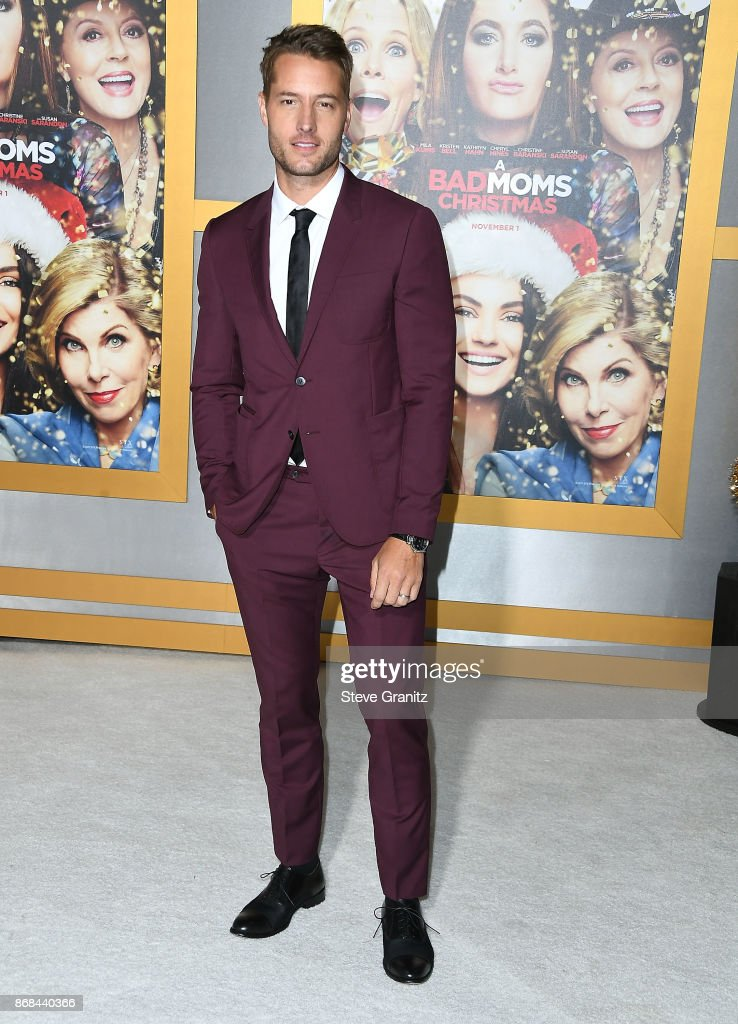 Justin Hartley arrives at the Premiere Of STX Entertainment's 'A Bad Moms Christmas' at Regency Village Theatre on October 30, 2017 in Westwood, California.