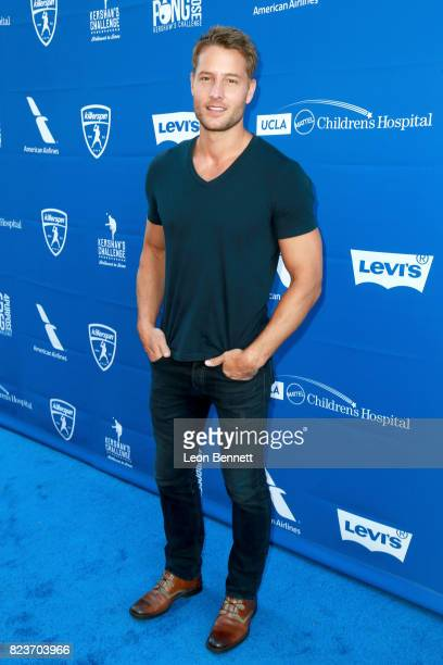 Justin Hartley at Clayton Kershaw's 5th Annual Ping Pong 4 Purpose Celebrity Tournament at Dodger Stadium on July 27 2017 in Los Angeles California