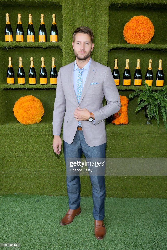 Justin Hartley at the Eighth Annual Veuve Clicquot Polo Classic on October 14, 2017 in Los Angeles, California.