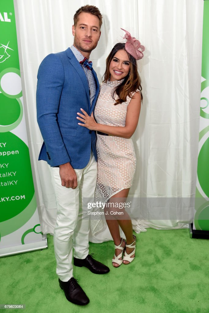 Justin Hartley attend the 143rd Kentucky Derby at Churchill Downs on May 6, 2017 in Louisville, Kentucky.