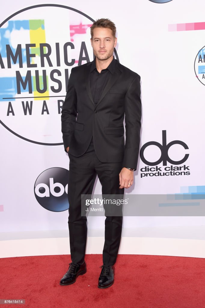 Justin Hartley attends 2017 American Music Awards at Microsoft Theater on November 19, 2017 in Los Angeles, California.
