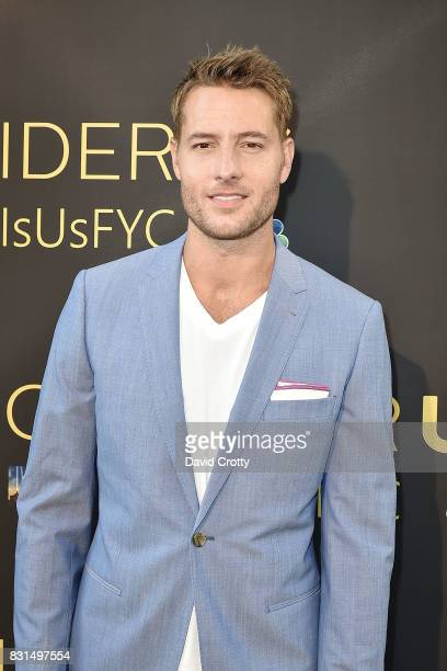 Justin Hartley attends An Evening with 'This Is Us' Red Carpet Panel Discussion at Paramount Studios on August 14 2017 in Los Angeles California