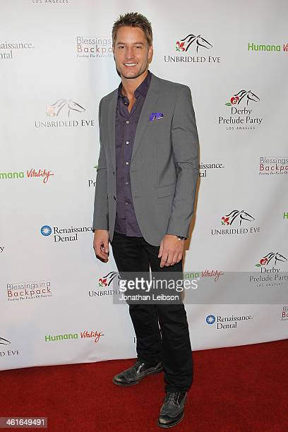 Justin Hartley attends the 5th Annual Unbridled Eve Derby Prelude Party at The London West Hollywood on January 9 2014 in West Hollywood California