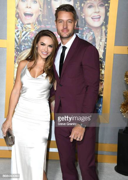 Justin Hartley Chrishell Stause arrives at the Premiere Of STX Entertainment's 'A Bad Moms Christmas' at Regency Village Theatre on October 30 2017...