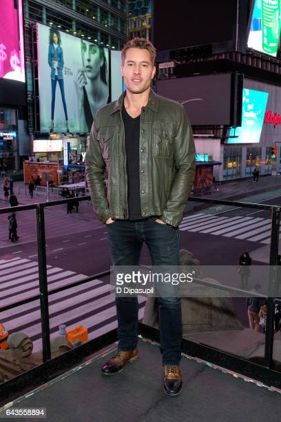 Justin Hartley visits 'Extra' at their New York studios at the Hard Rock Cafe in Times Square on February 21 2017 in New York City