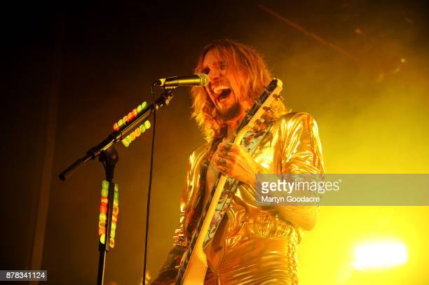 Justin Hawkins of The Darkness performs at Columbia Theater Berlin Germany on November 15 2017