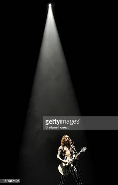 Justin Hawkins of The Darkness performs at Manchester Apollo on March 2 2013 in Manchester England