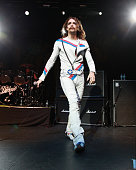 Justin Hawkins of The Darkness performs at Terminal 5 on October 21 2012 in New York City
