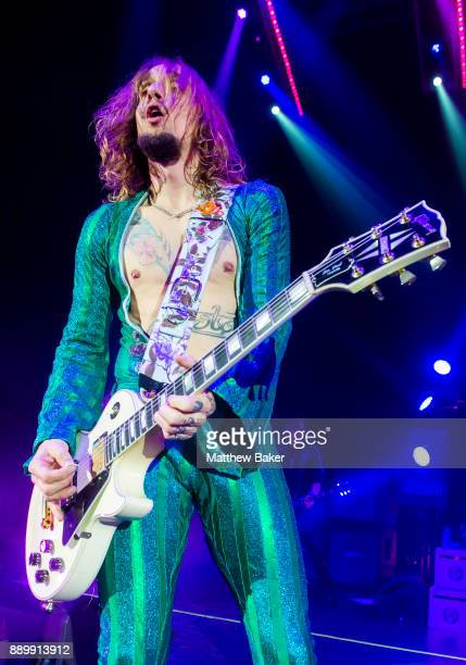 Justin Hawkins of The Darkness performs live on stage at Eventim Apollo on December 10 2017 in London England