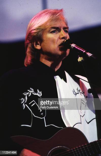 Justin Hayward of Moody Blues during The Moody Blues in Concert at Jones Beach 1993 at Jones Beach Theater in Wantagh New York United States