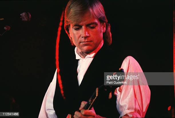 Justin Hayward of Moody Blues during The Moody Blues in Concert in Indianapolis Summer 1986 in Indianapolis Indiana United States