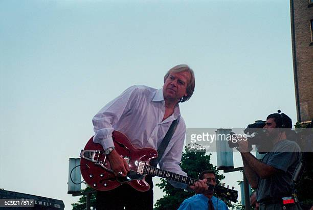 Justin Hayward of The Moody Blues in performance circa 1990 New York