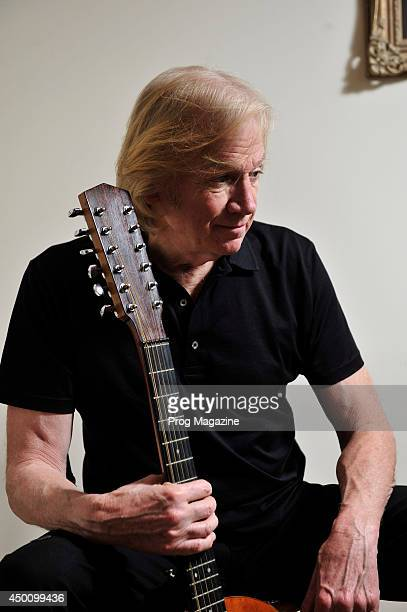 Justin Hayward singersongwriter and guitarist of British rock band The Moody Blues photographed during a portrait shoot for Prog Magazine January 15...