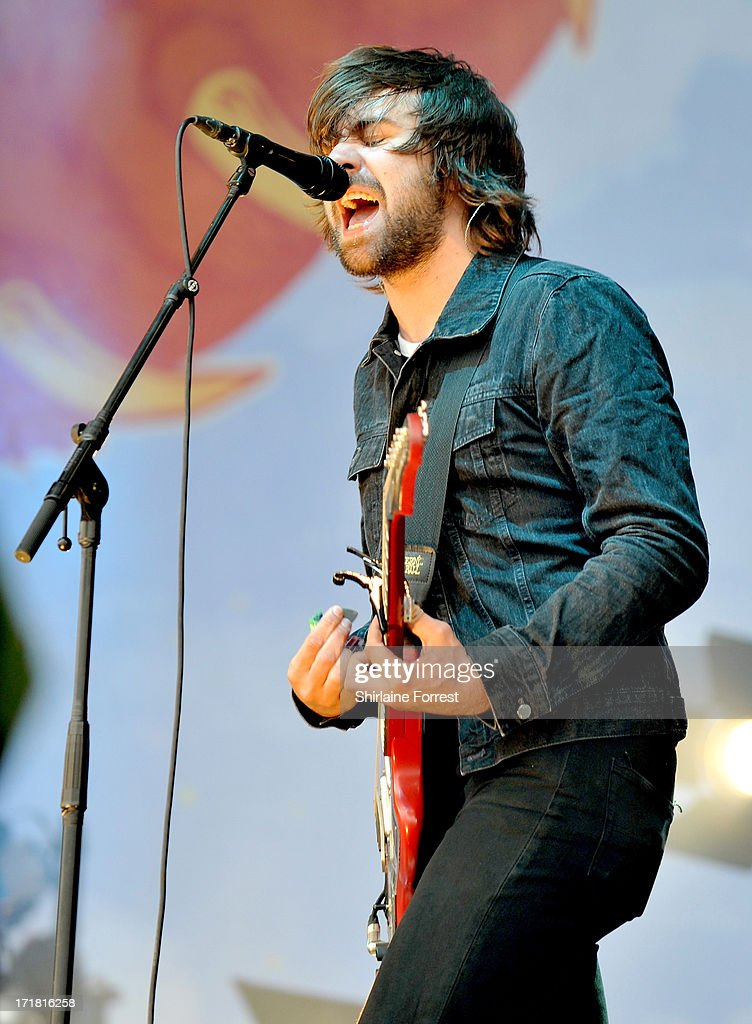 Justin Hayward-Young of The Vaccines performs at day 2 of the 2013 Glastonbury Festival at Worthy Farm on June 28, 2013 in Glastonbury, England.