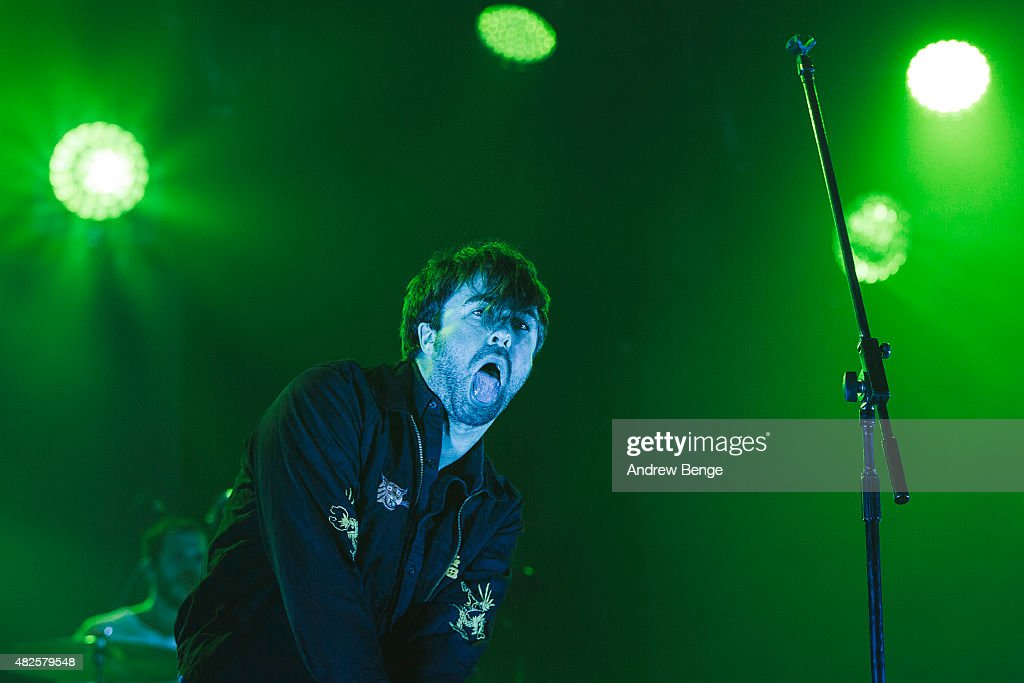 Justin HaywardYoung of The Vaccines performs on the Main Stage at Kendal Calling Festival on July 31 2015 in Kendal United Kingdom